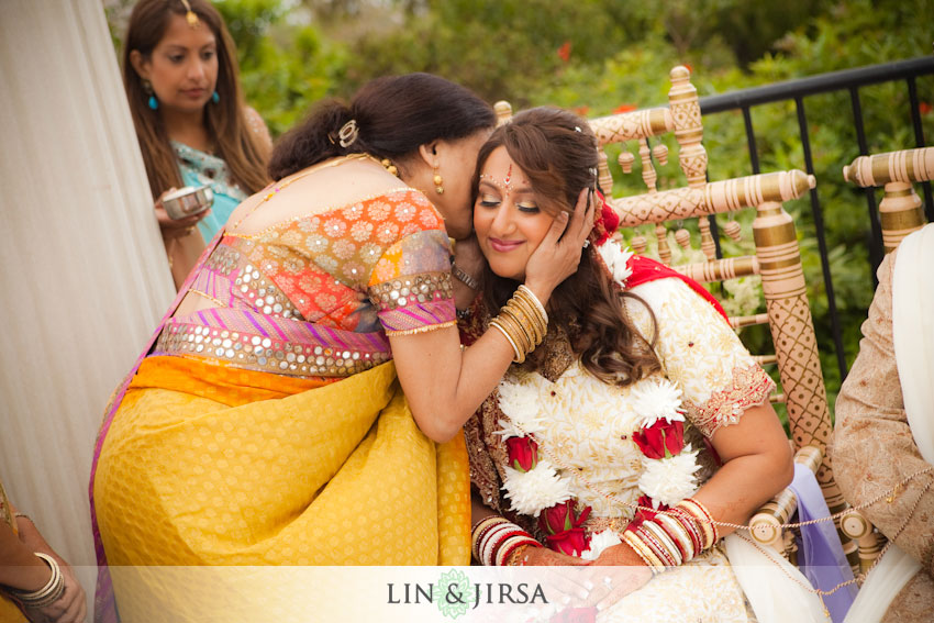 During the Indian Wedding ceremony there is advice blessings given to the