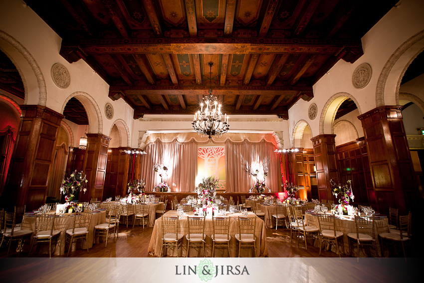 Reception Park Plaza Los Angeles Wedding