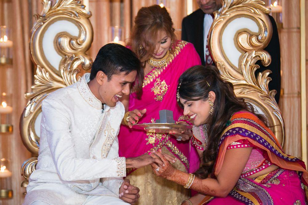 0242 NJ Indian Wedding Ring Ceremony