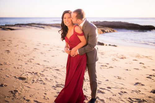 Downtown Laguna Beach Orange County Engagement Photography