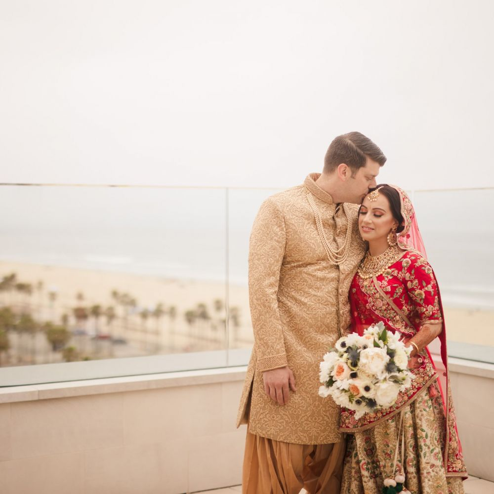 00 The Waterfront Beach Resort Orange County Indian Wedding Photography
