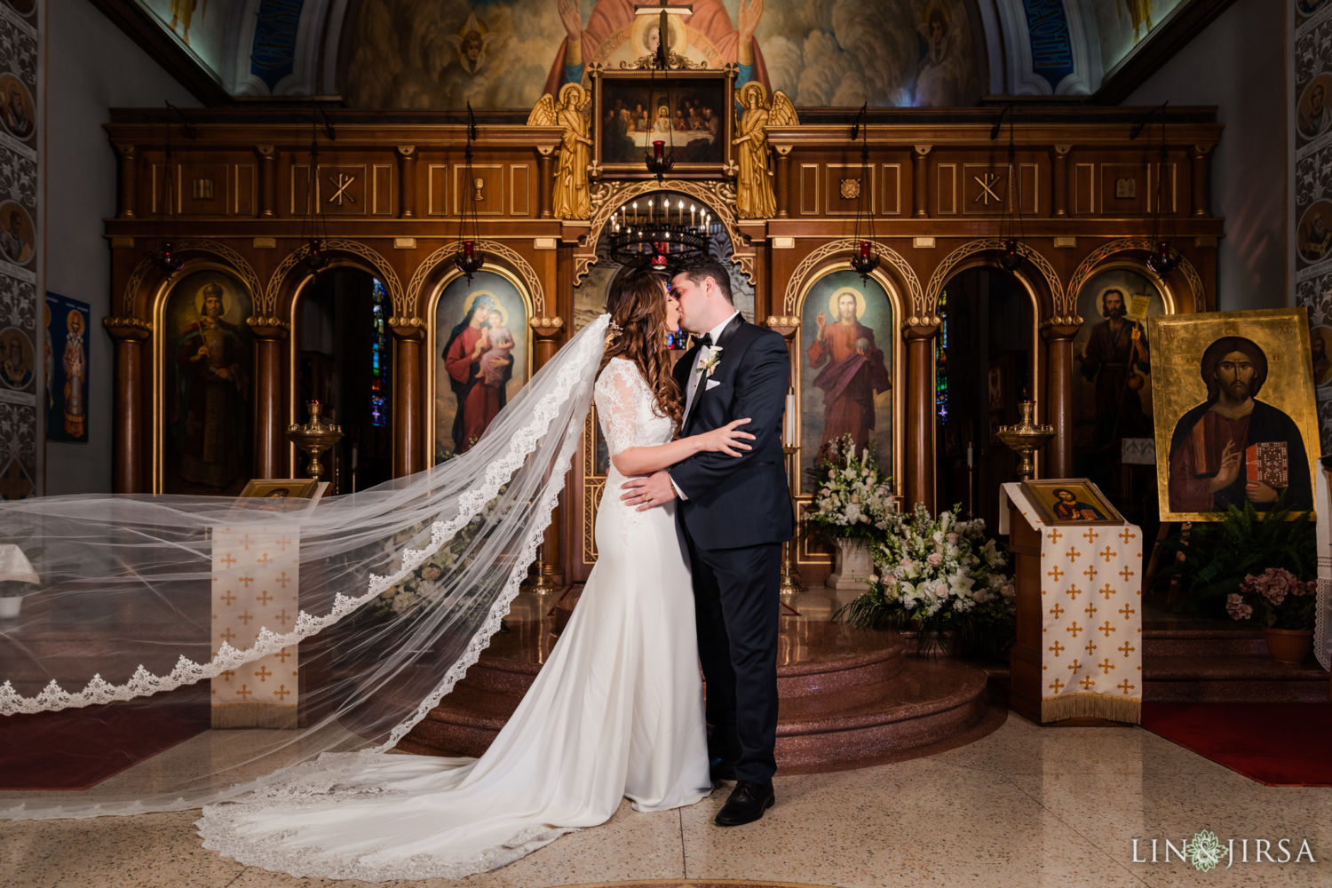 0393 AJ St Stevens Serbian Orthodox Cathedral Alhambra Wedding Photography