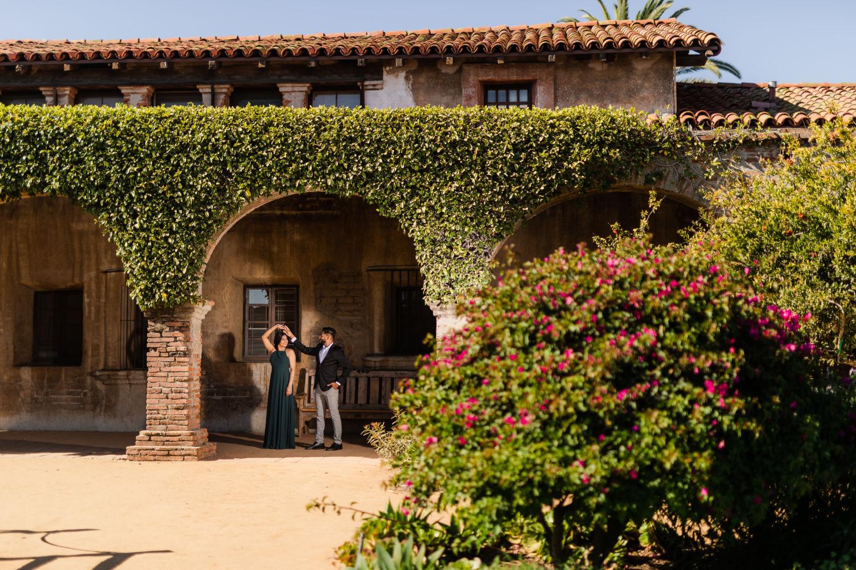 0027 NP Mission San Juan Capistrano Orange County Engagement Photography