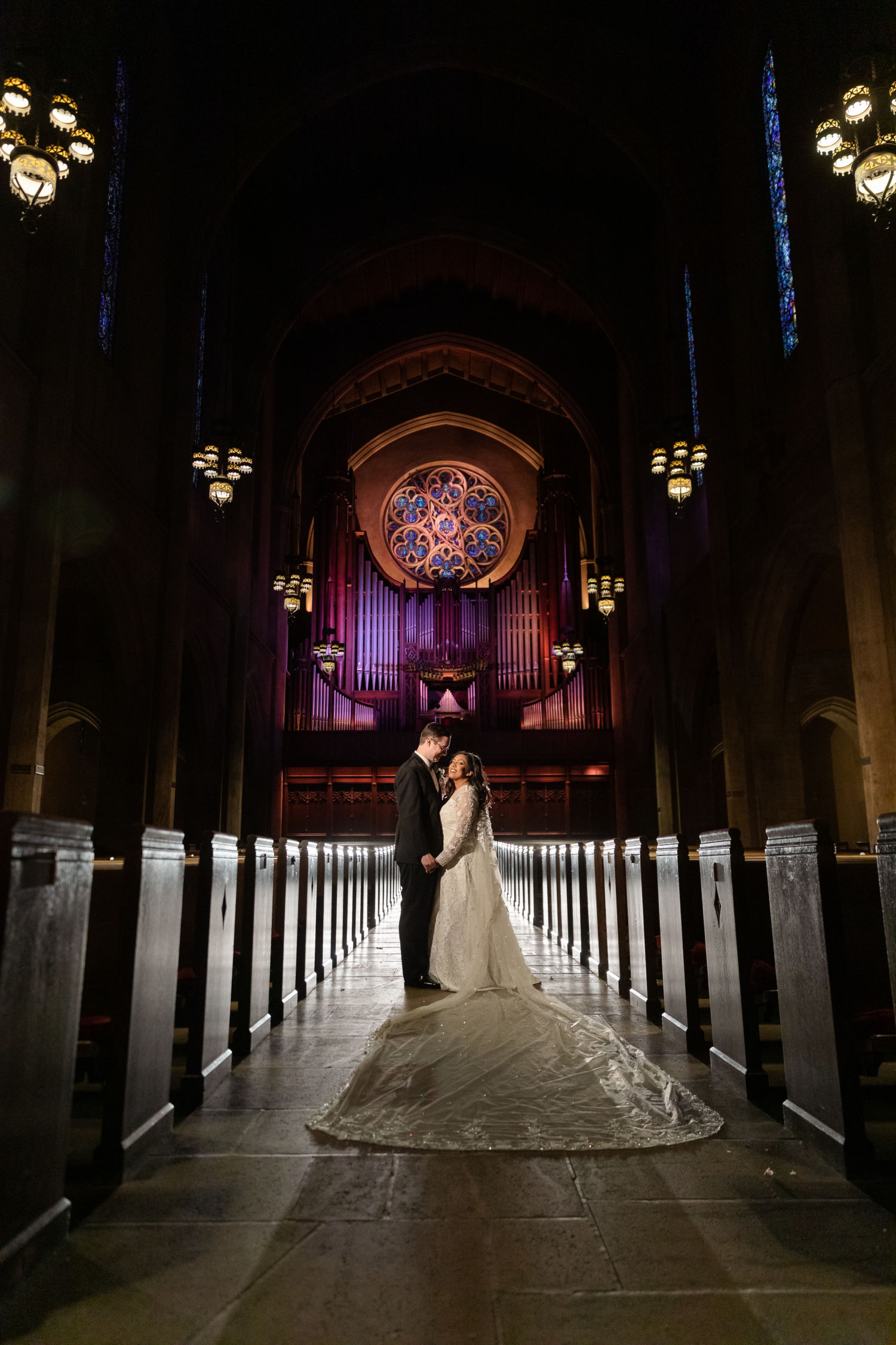 0371 PJ First Congressional Church Glendale Los Angeles County Wedding Photography