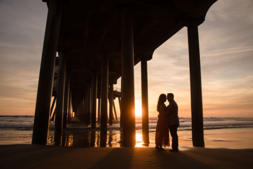 Huntington Beach Engagement Session Jenn and Darin