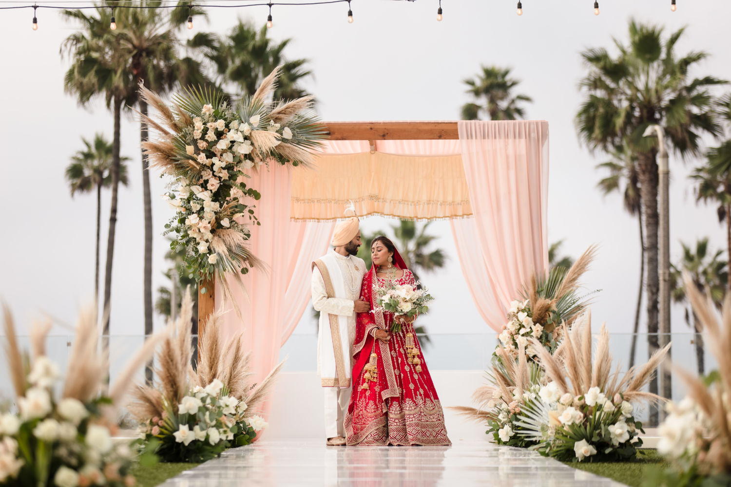 Pasea Huntington Beach Jasmine Avneet Sikh Micro Wedding