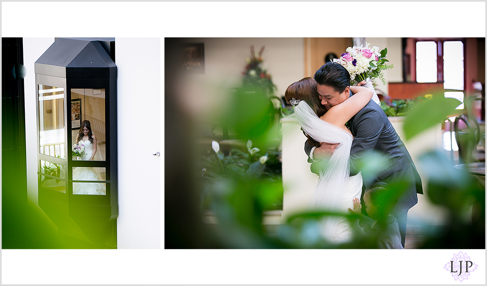 07-embassy-suites-brea-wedding-photographer-first-look-wedding-party-photos