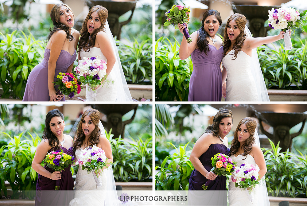 08-embassy-suites-brea-wedding-photographer-first-look-wedding-party-photos