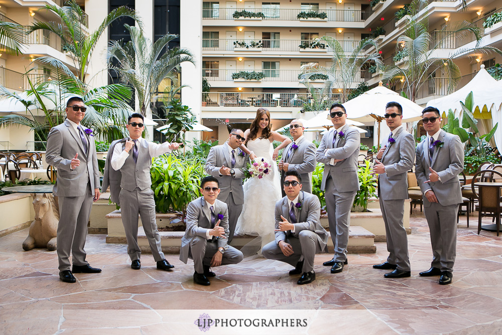 11-embassy-suites-brea-wedding-photographer-first-look-wedding-party-photos