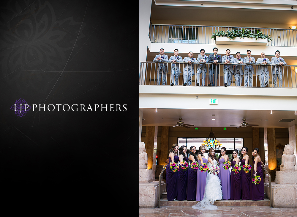 13-embassy-suites-brea-wedding-photographer-first-look-wedding-party-photos