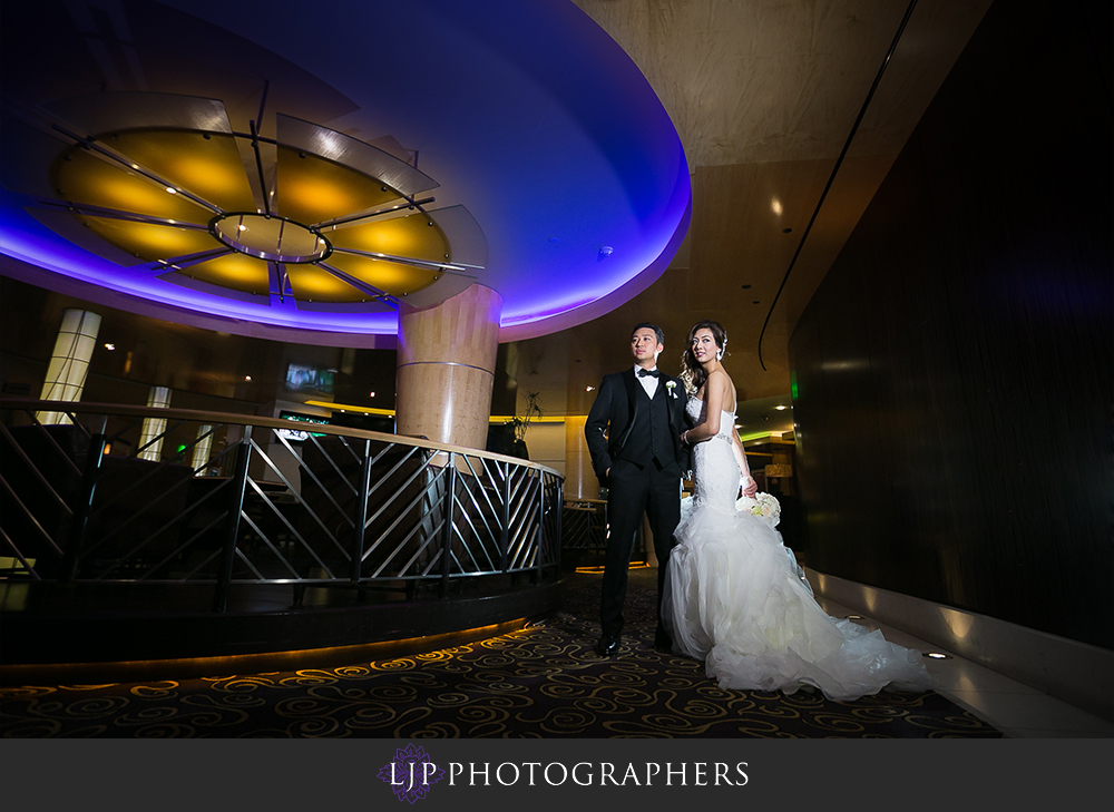 13-pacific-palms-resort-wedding-photographer-first-look-wedding-party-photos