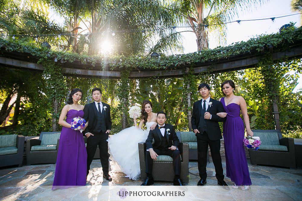 14-pacific-palms-resort-wedding-photographer-first-look-wedding-party-photos