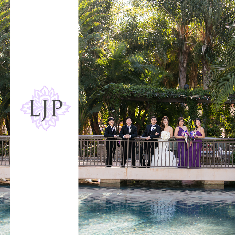 15-pacific-palms-resort-wedding-photographer-first-look-wedding-party-photos