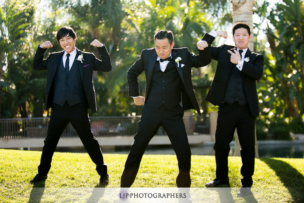 18-pacific-palms-resort-wedding-photographer-first-look-wedding-party-photos