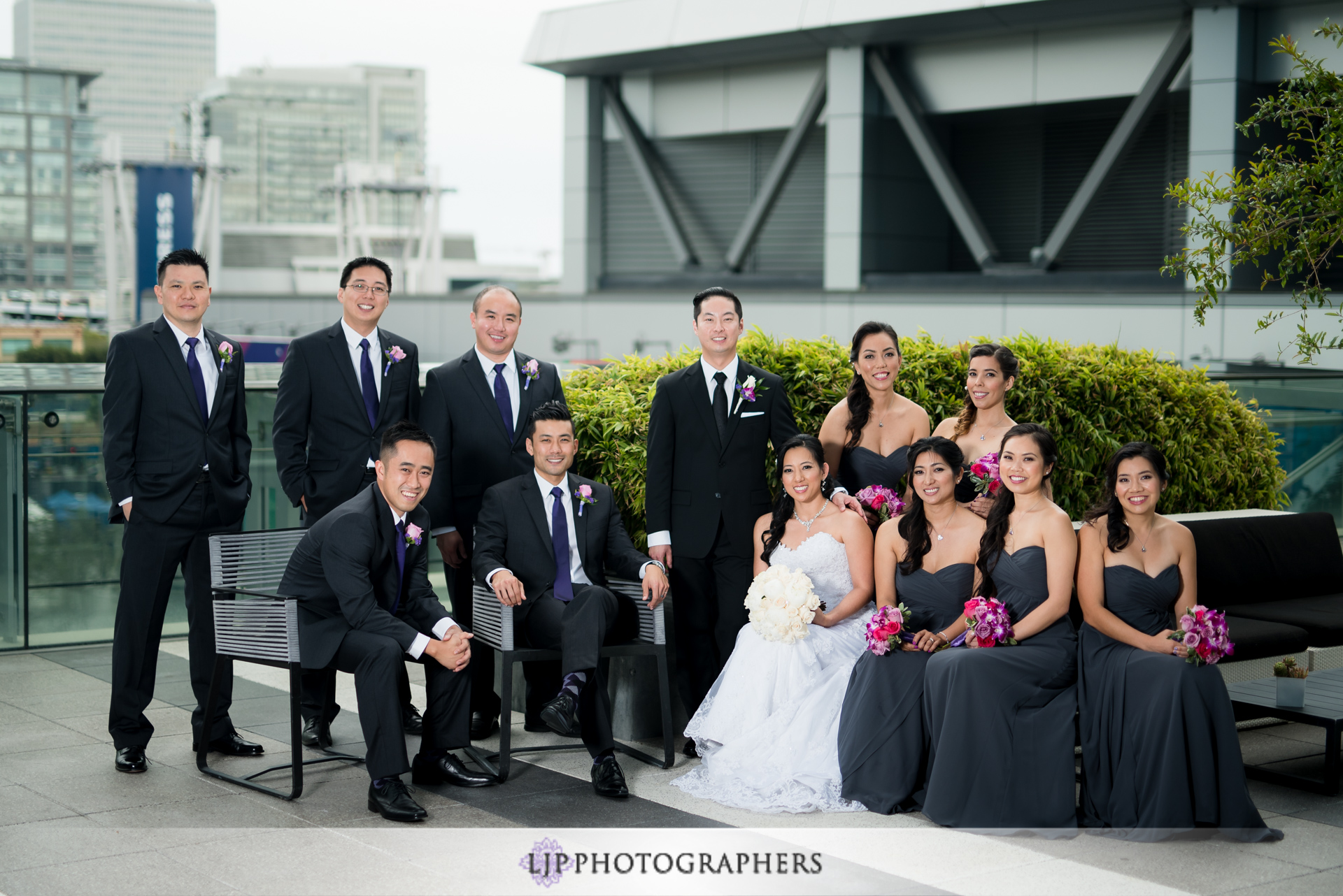 10-jw-marriott-los-angeles-wedding-photographer-first-look-wedding-party-couple-session-photos