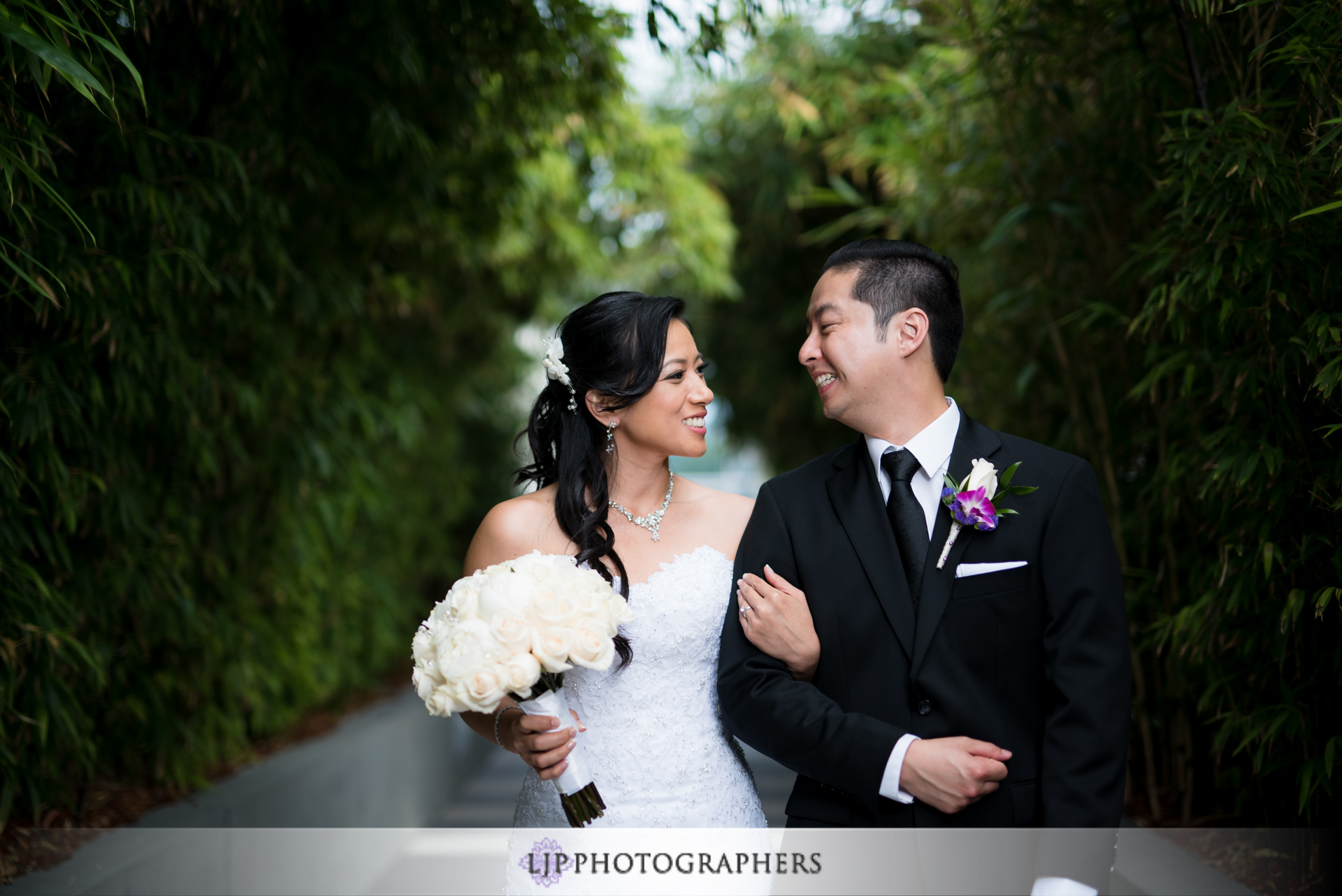 12-jw-marriott-los-angeles-wedding-photographer-first-look-wedding-party-couple-session-photos