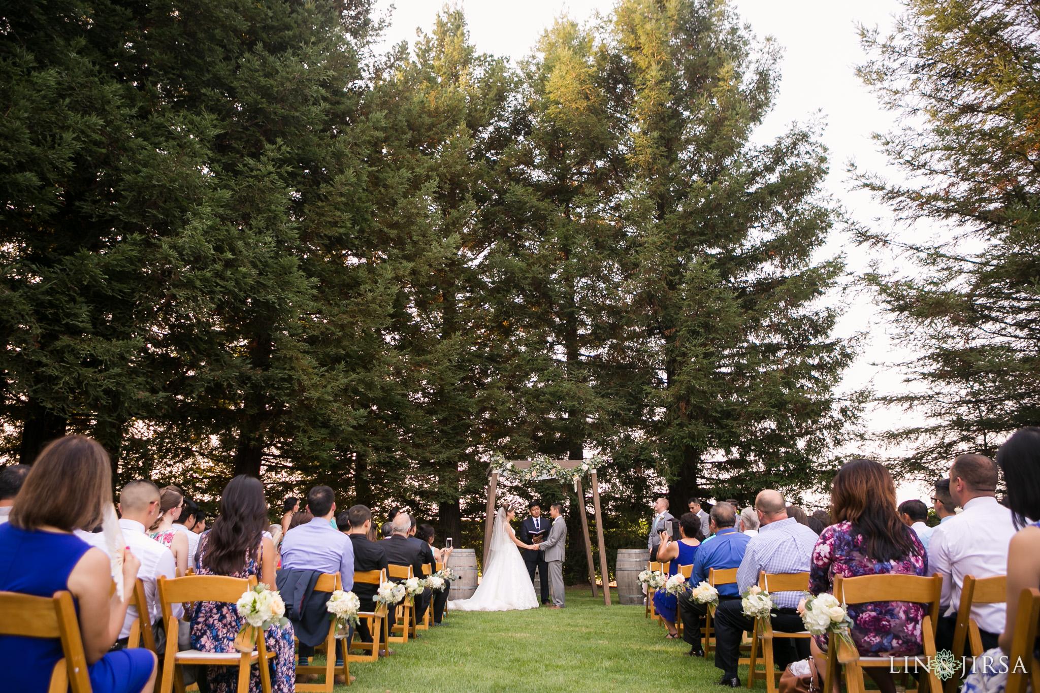 Trentadue Winery Wedding Ceremony