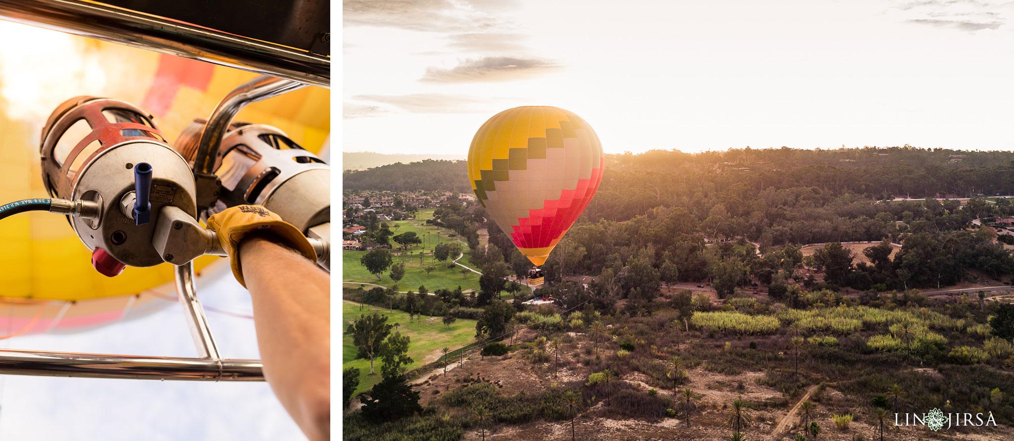 04 hot air balloon san diego engagement photography