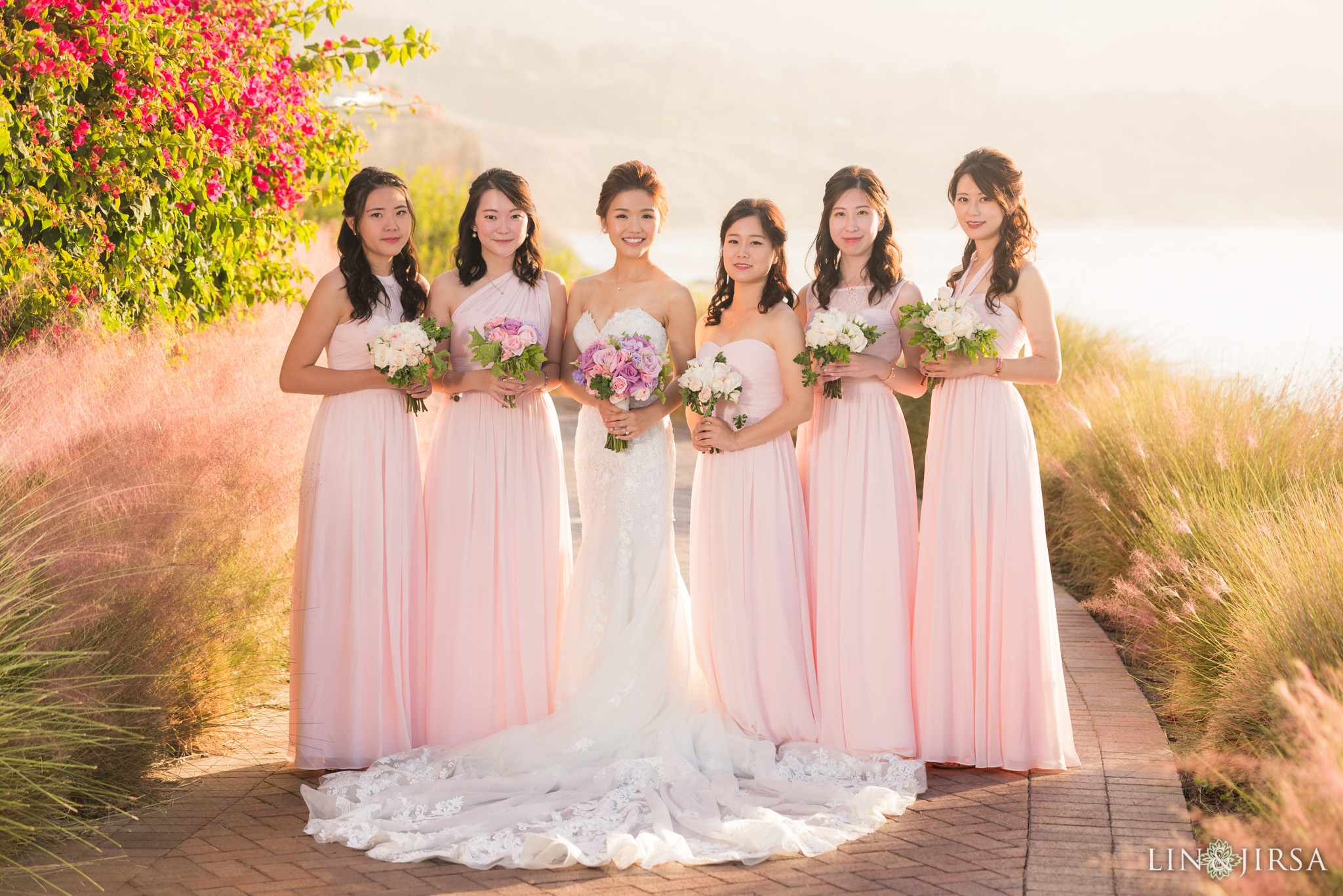 06 terranea resort bridal party wedding photography