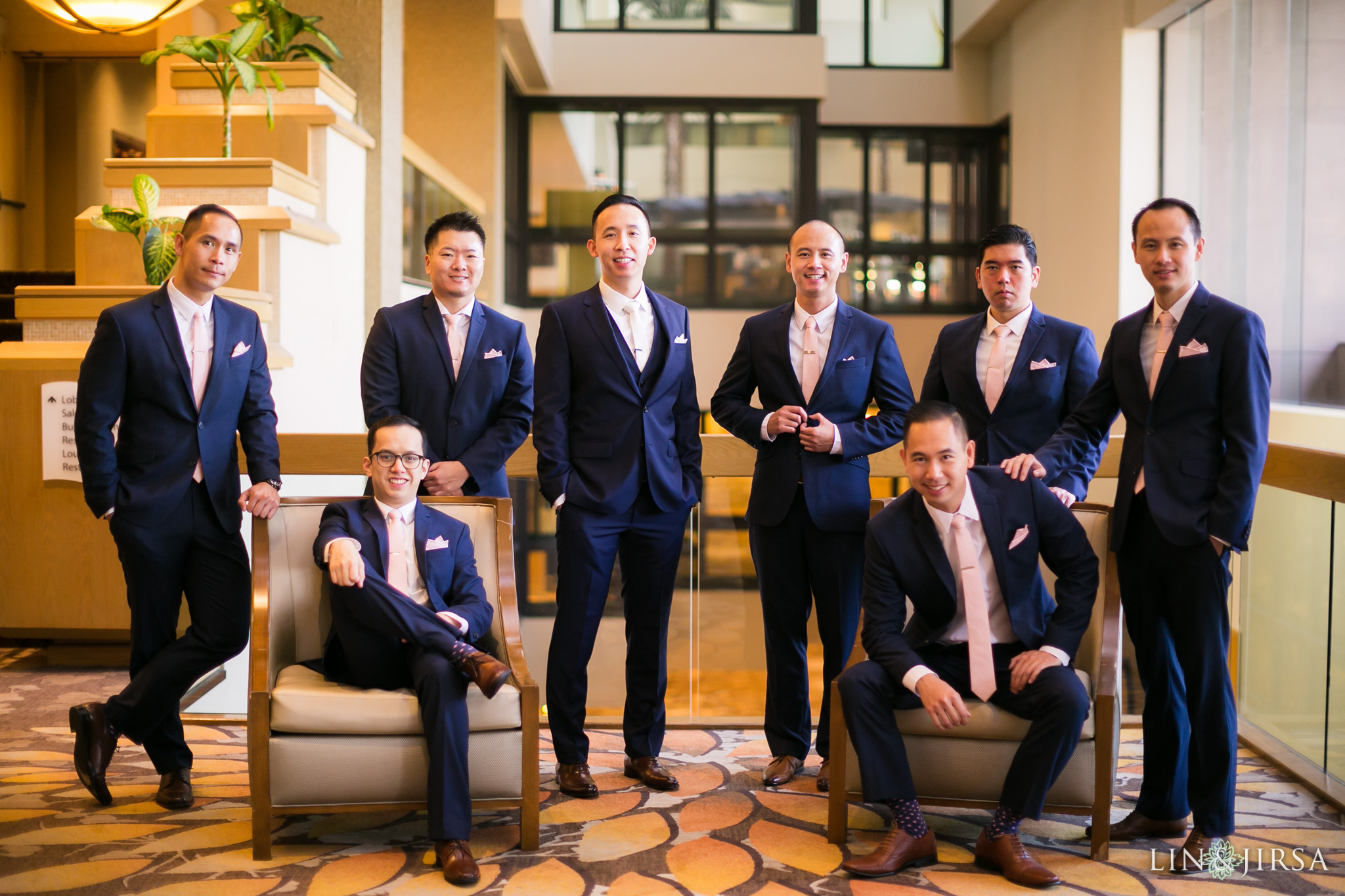 07 hilton costa mesa groomsmen wedding photography