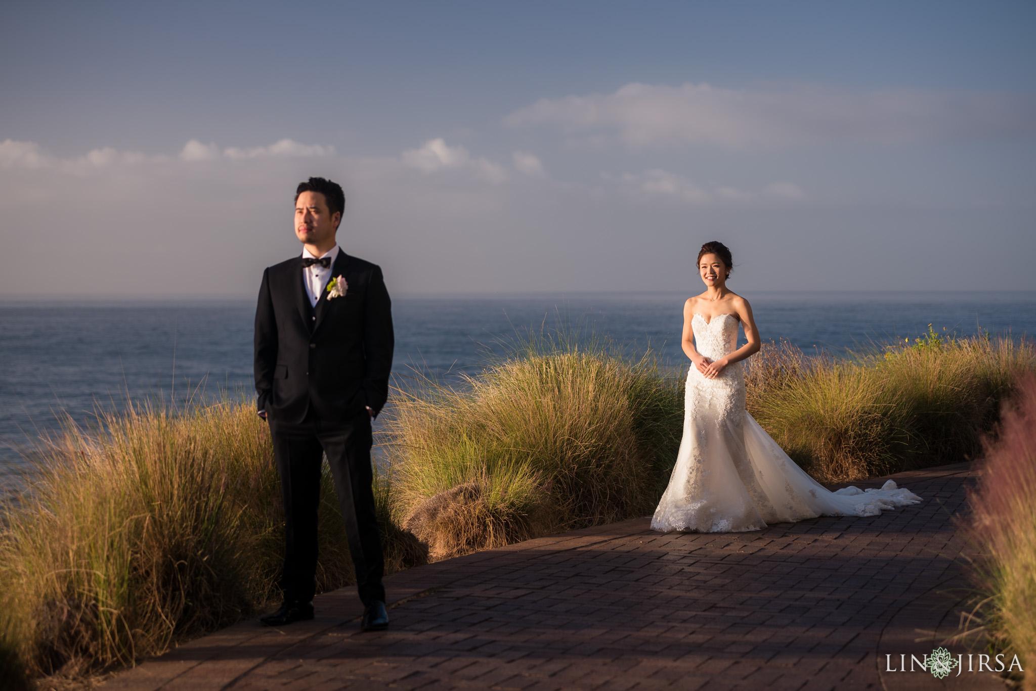 11 terranea resort first look wedding photography