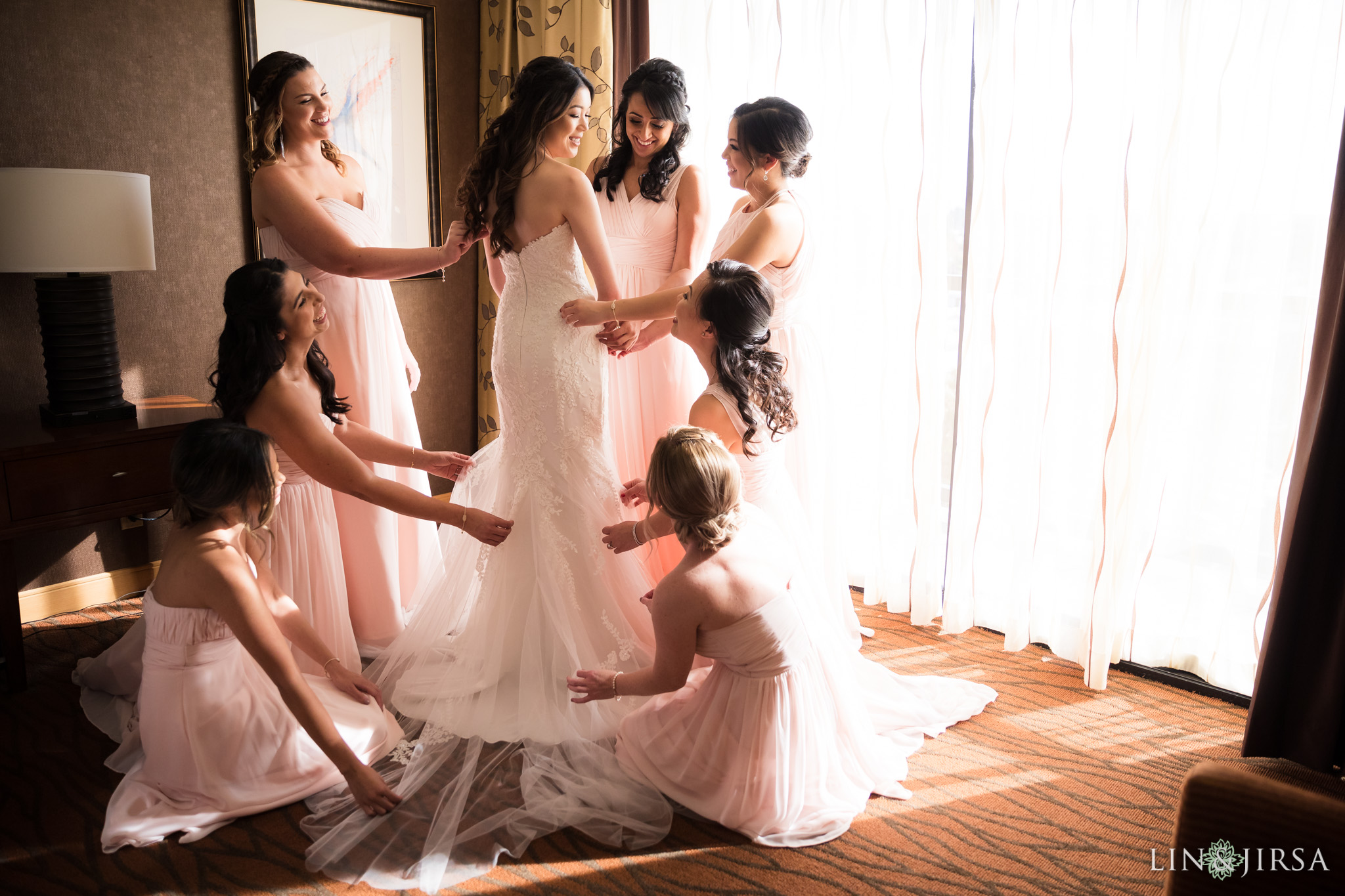 13 hilton costa mesa bridesmaids wedding photography
