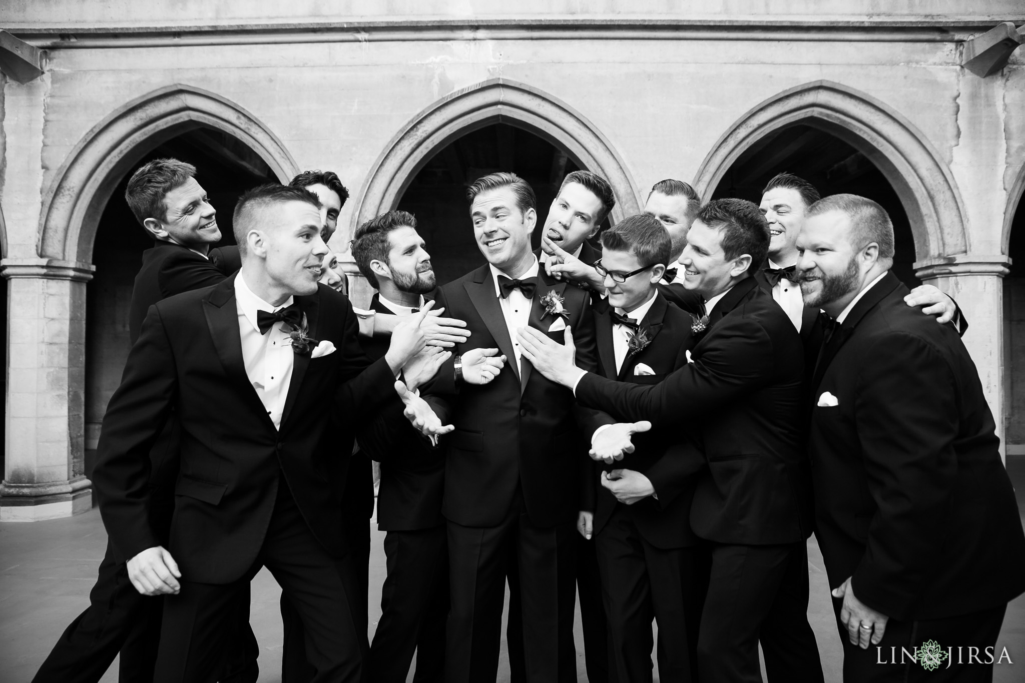 16 macarthur los angeles groomsmen photography