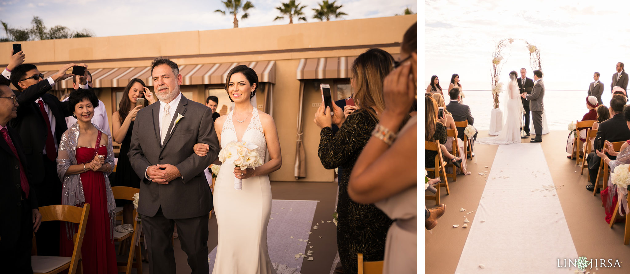 20 surf and sand resort laguna beach wedding ceremony photography