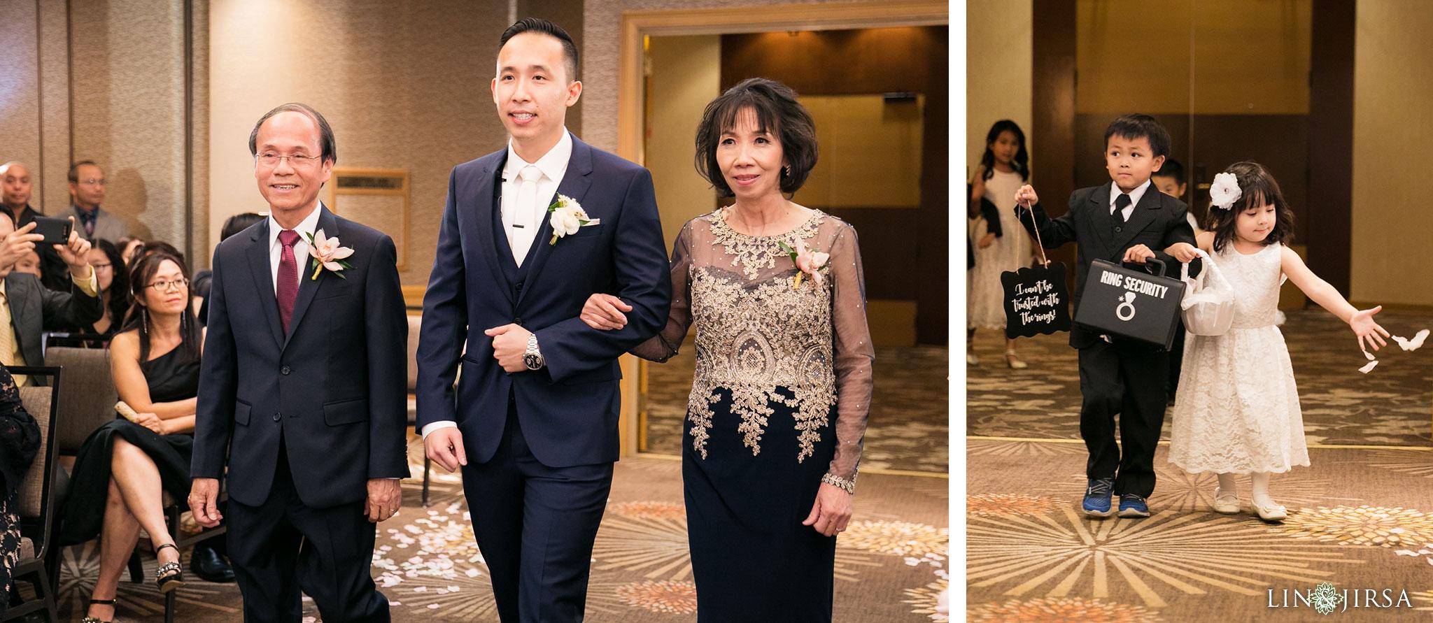 24 hilton costa mesa wedding ceremony photography