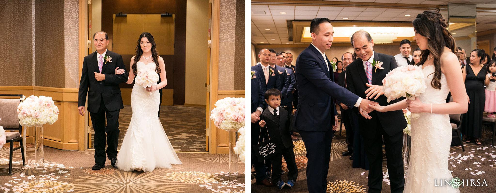 25 hilton costa mesa wedding ceremony photography
