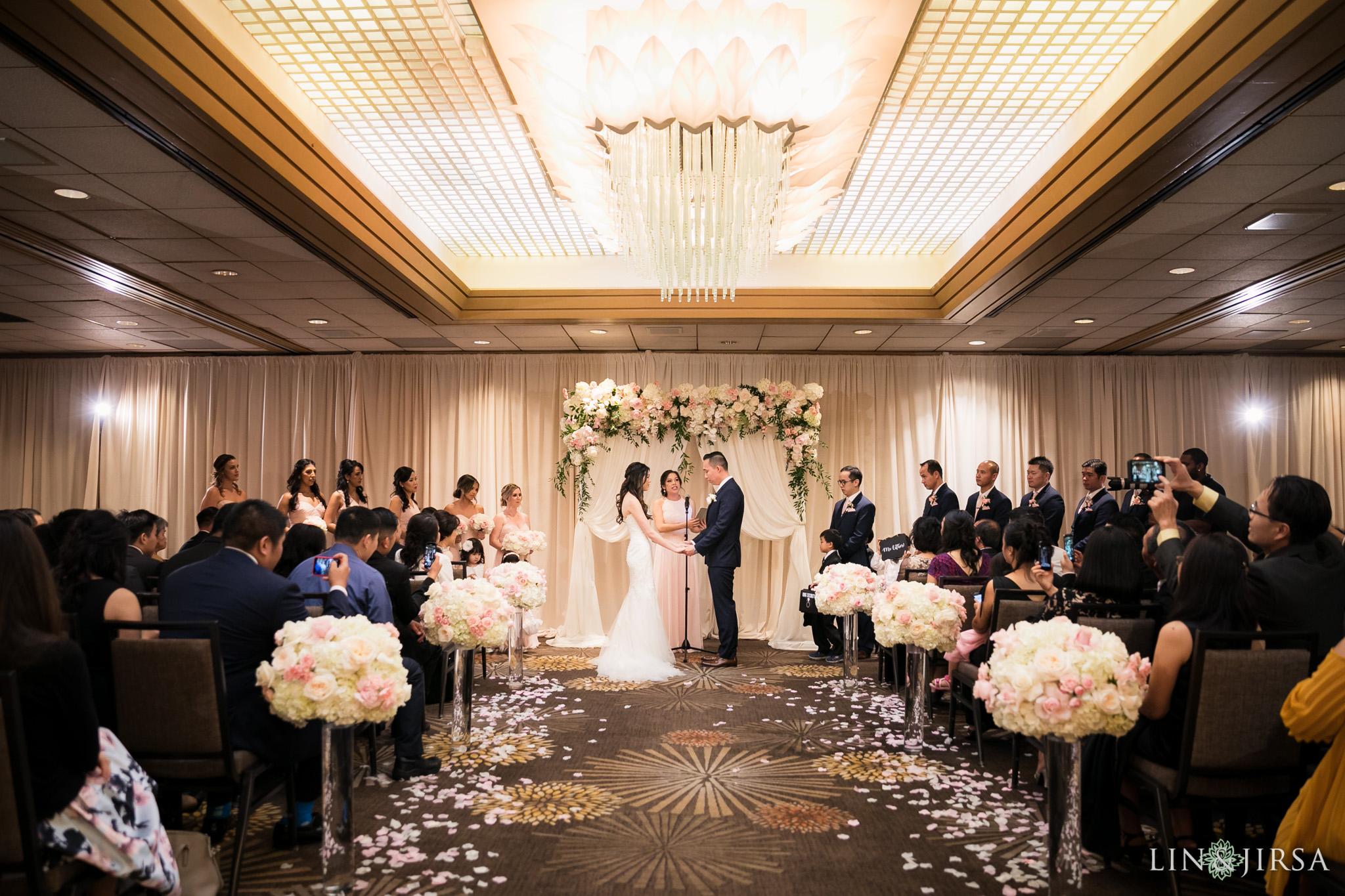 26 hilton costa mesa wedding ceremony photography