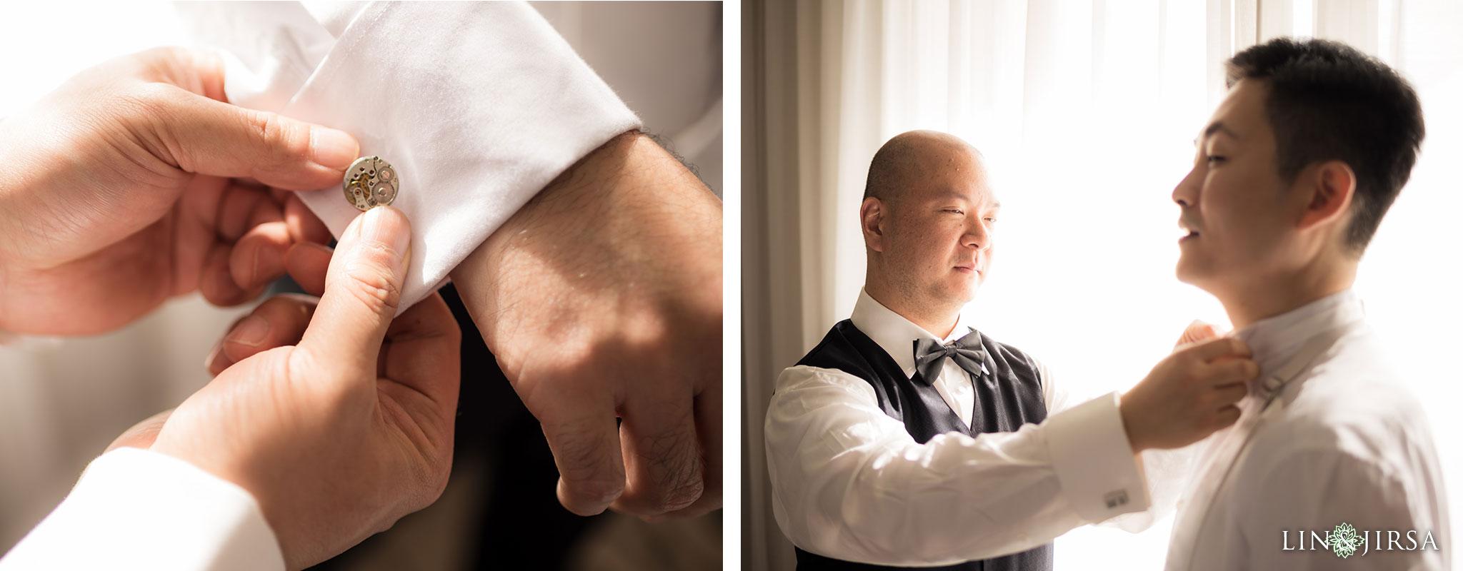 07 san gabriel hilton wedding groom photography