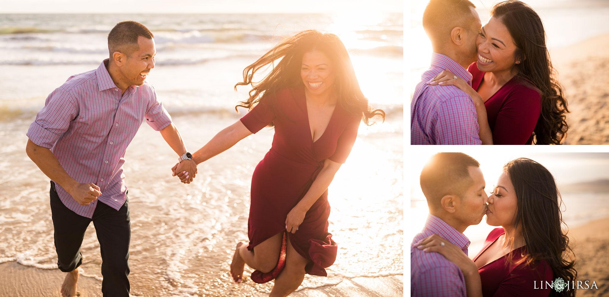 10 santa monica pier beach engagement photography