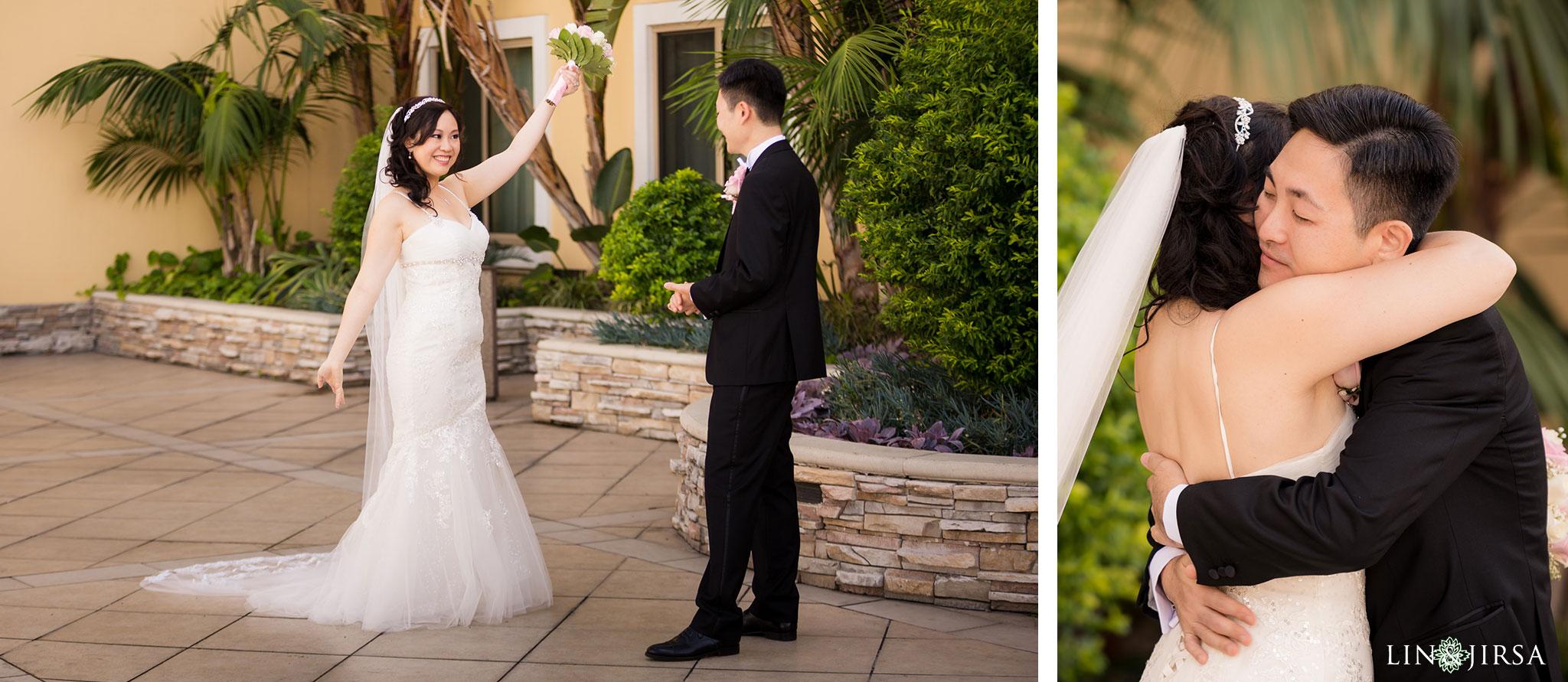 12 san gabriel hilton wedding first look photography