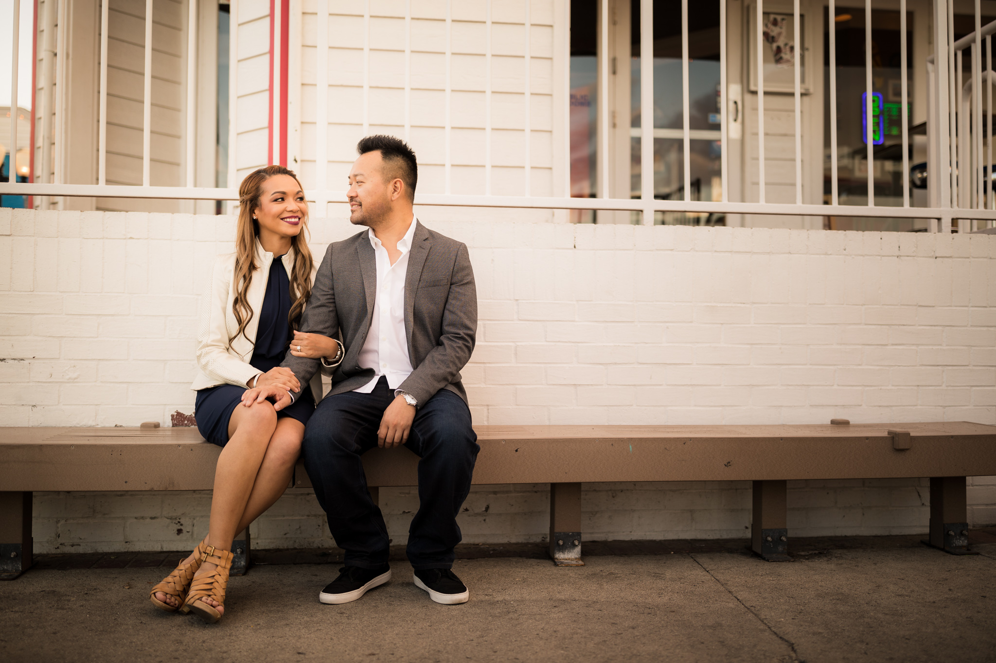 14 newport beach pier engagement photography