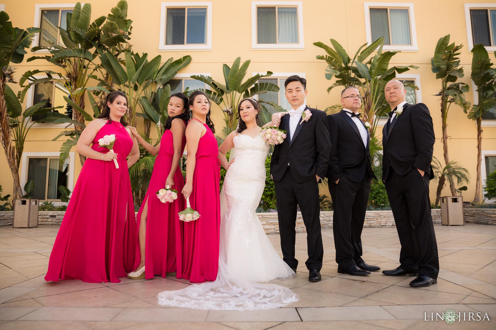 15 san gabriel hilton wedding party photography