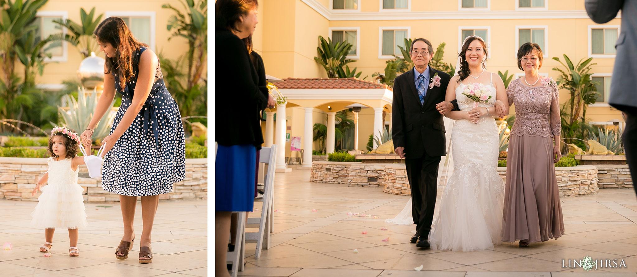 18 san gabriel hilton wedding ceremony photography