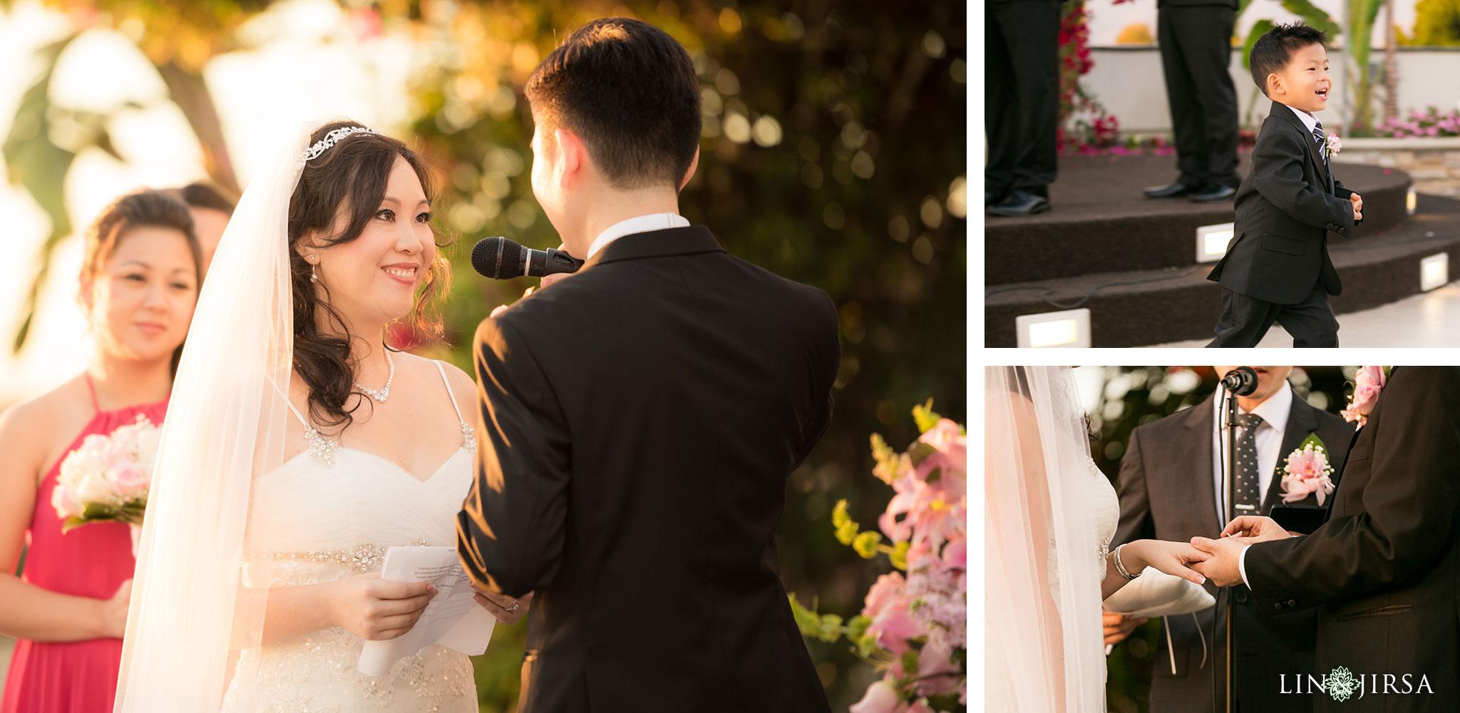 21 san gabriel hilton wedding ceremony photography 1