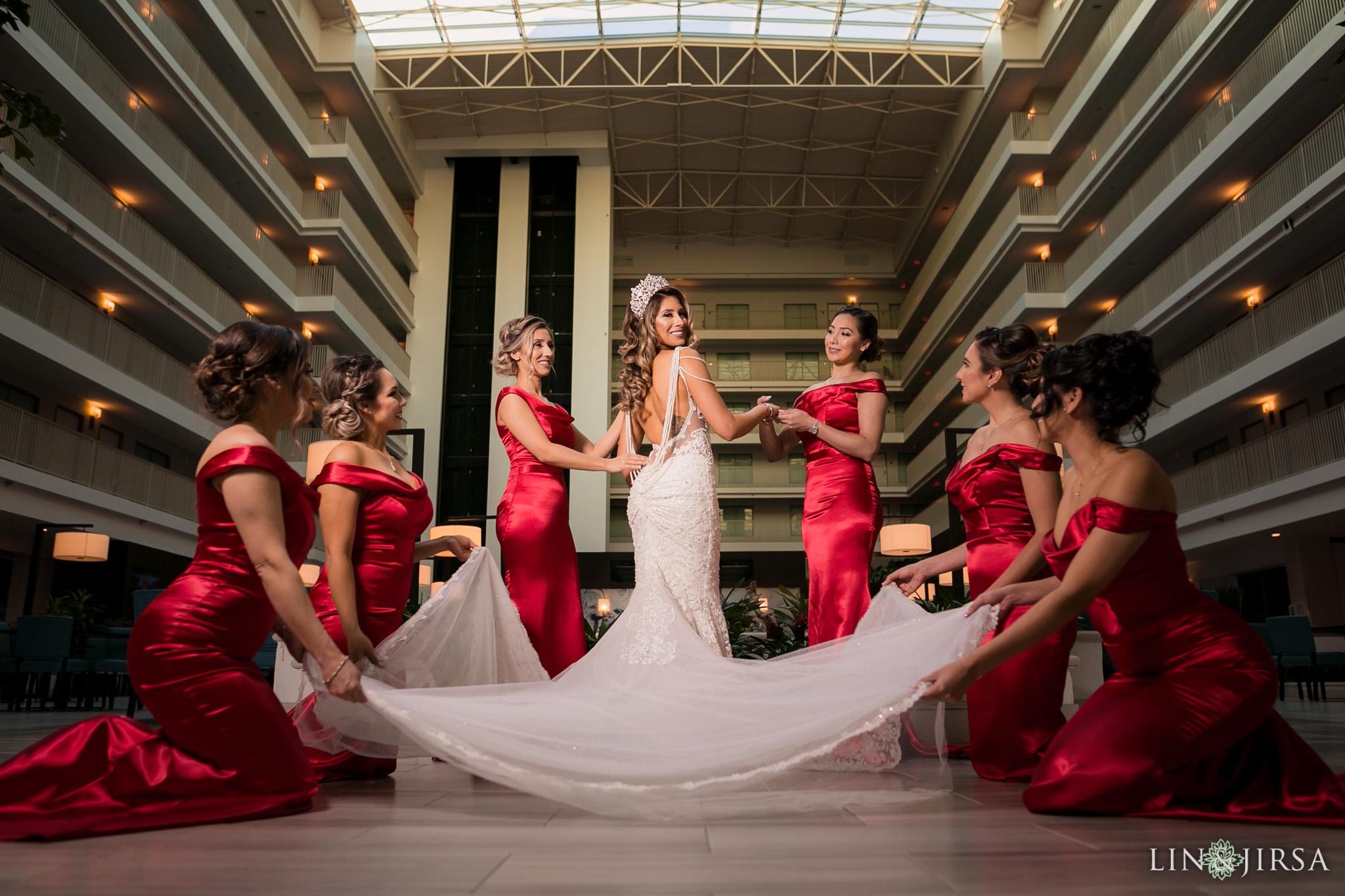 05 richard nixon library wedding bride photography