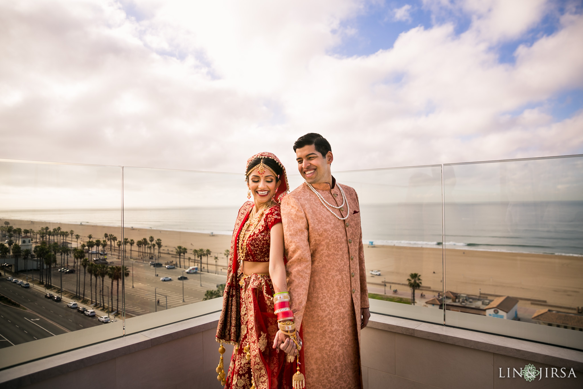 13 hilton waterfront huntington beach indian first look wedding photography