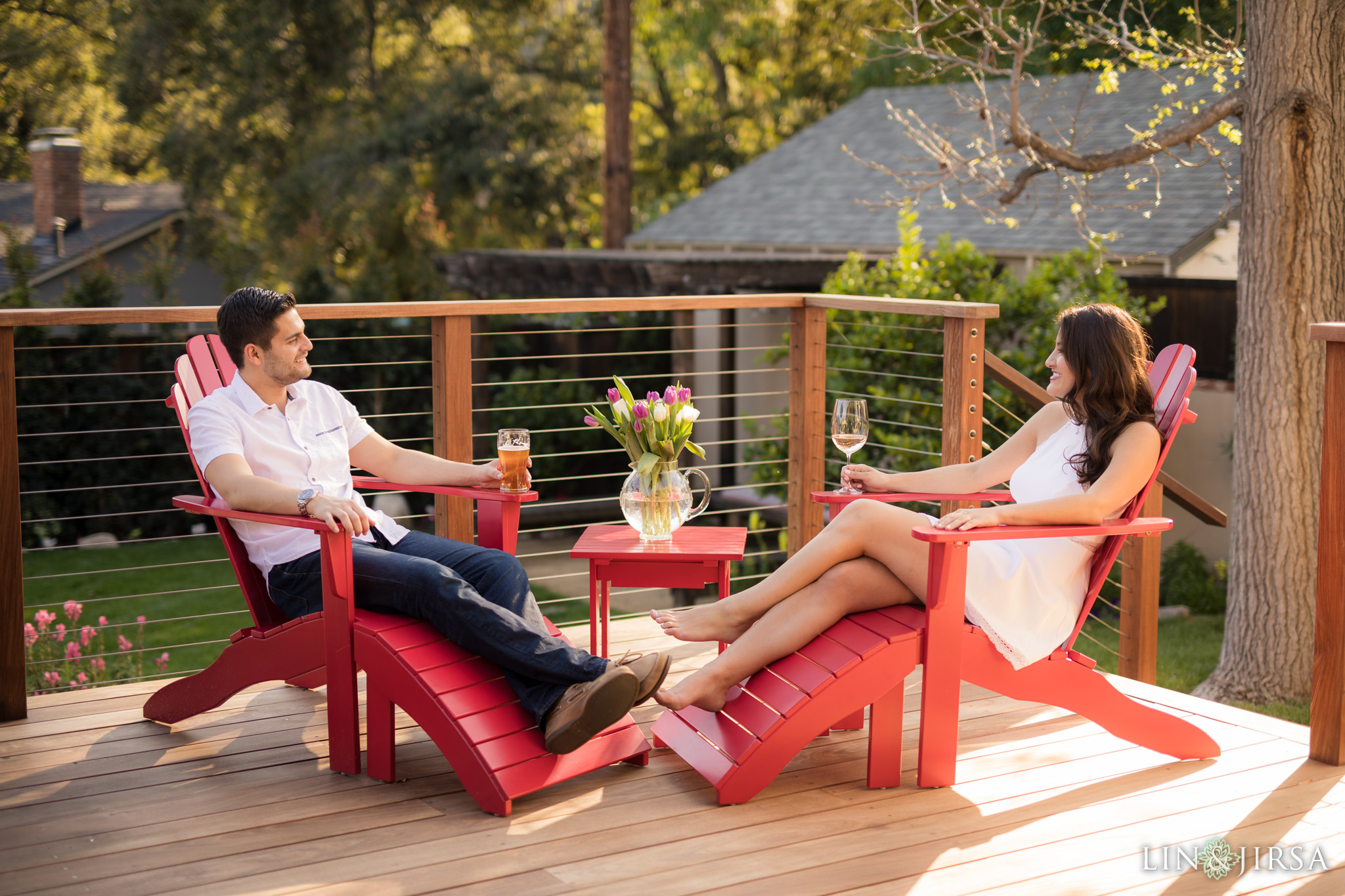 16 los angeles country home engagement photography