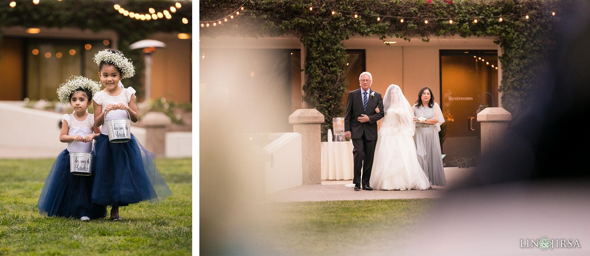 20 turnip rose promenade orange county wedding ceremony photography