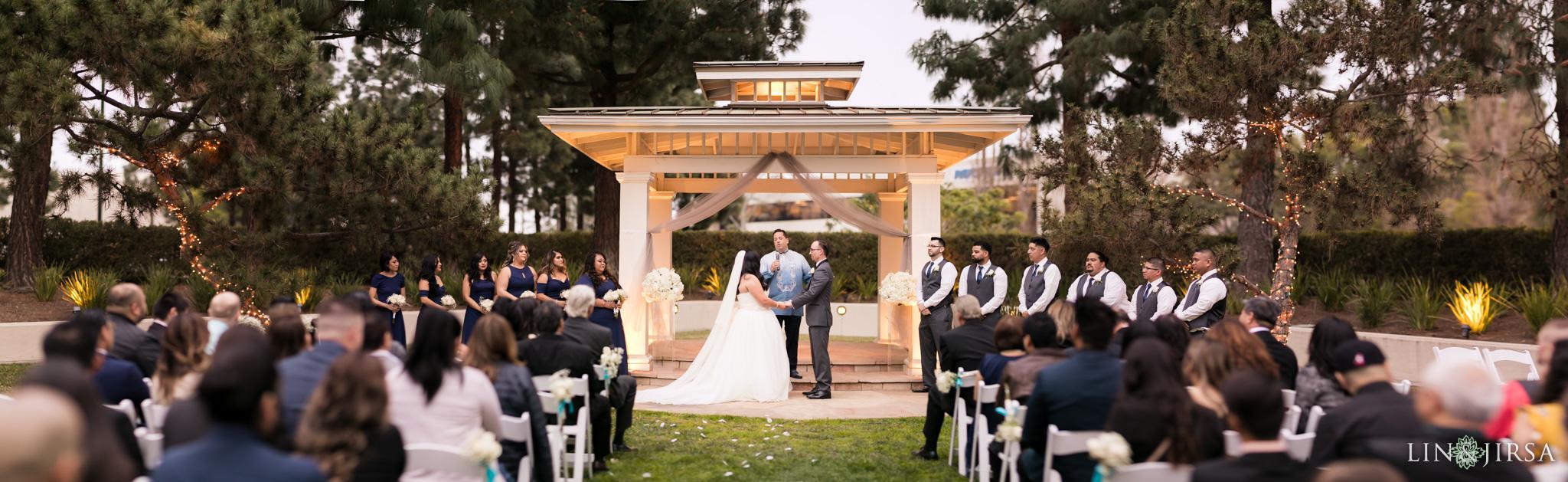 22 turnip rose promenade orange county wedding ceremony photography