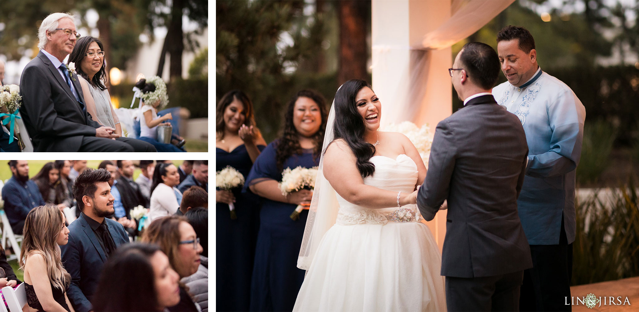 24 turnip rose promenade orange county wedding ceremony photography