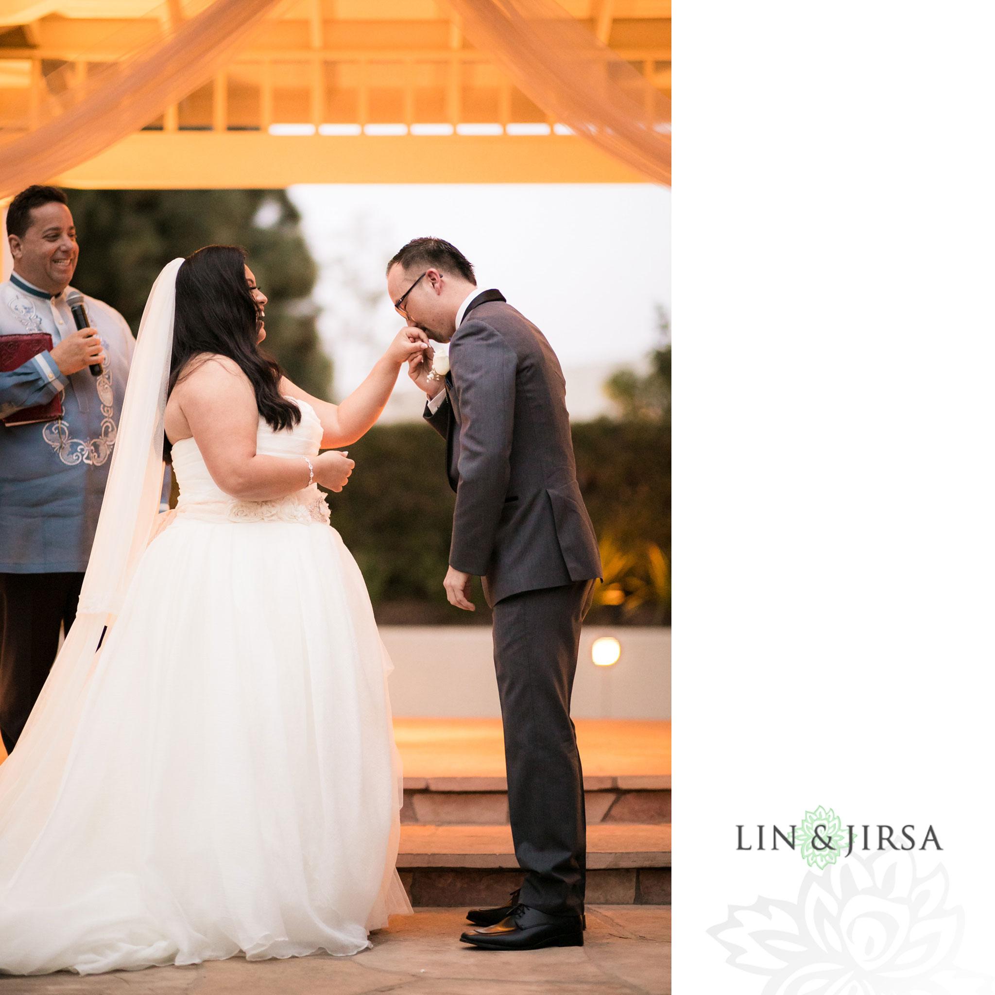 25 turnip rose promenade orange county wedding ceremony photography