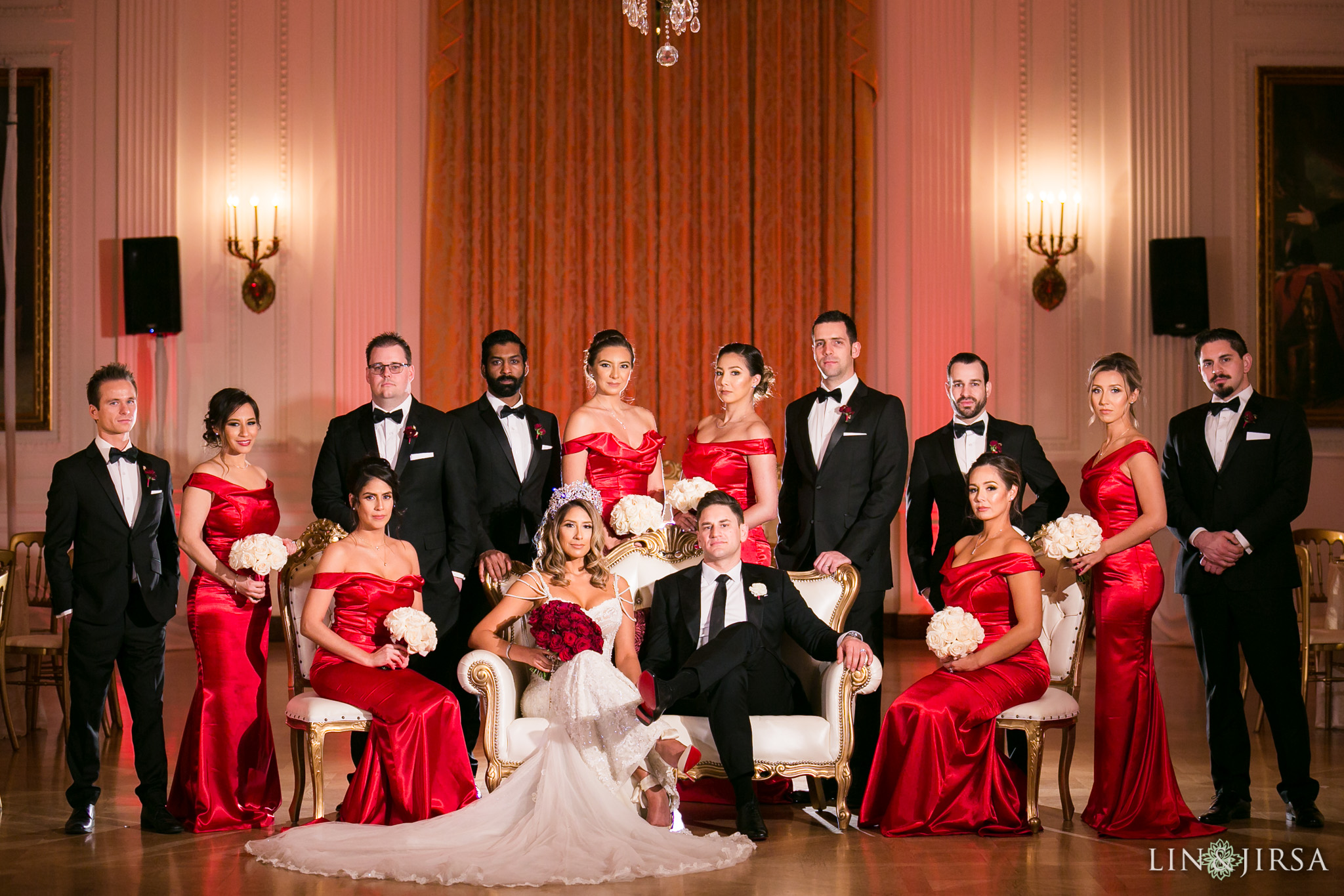 27 richard nixon library wedding reception photography