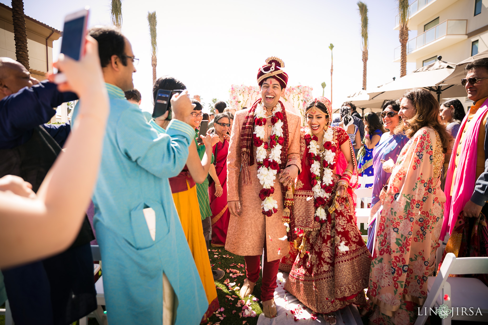 35 hilton waterfront huntington beach indian wedding ceremony photography