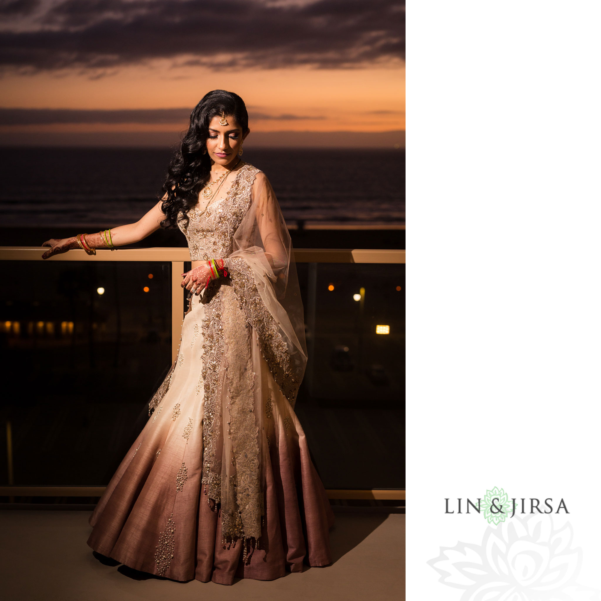 43 hilton waterfront huntington beach indian wedding sunset photography