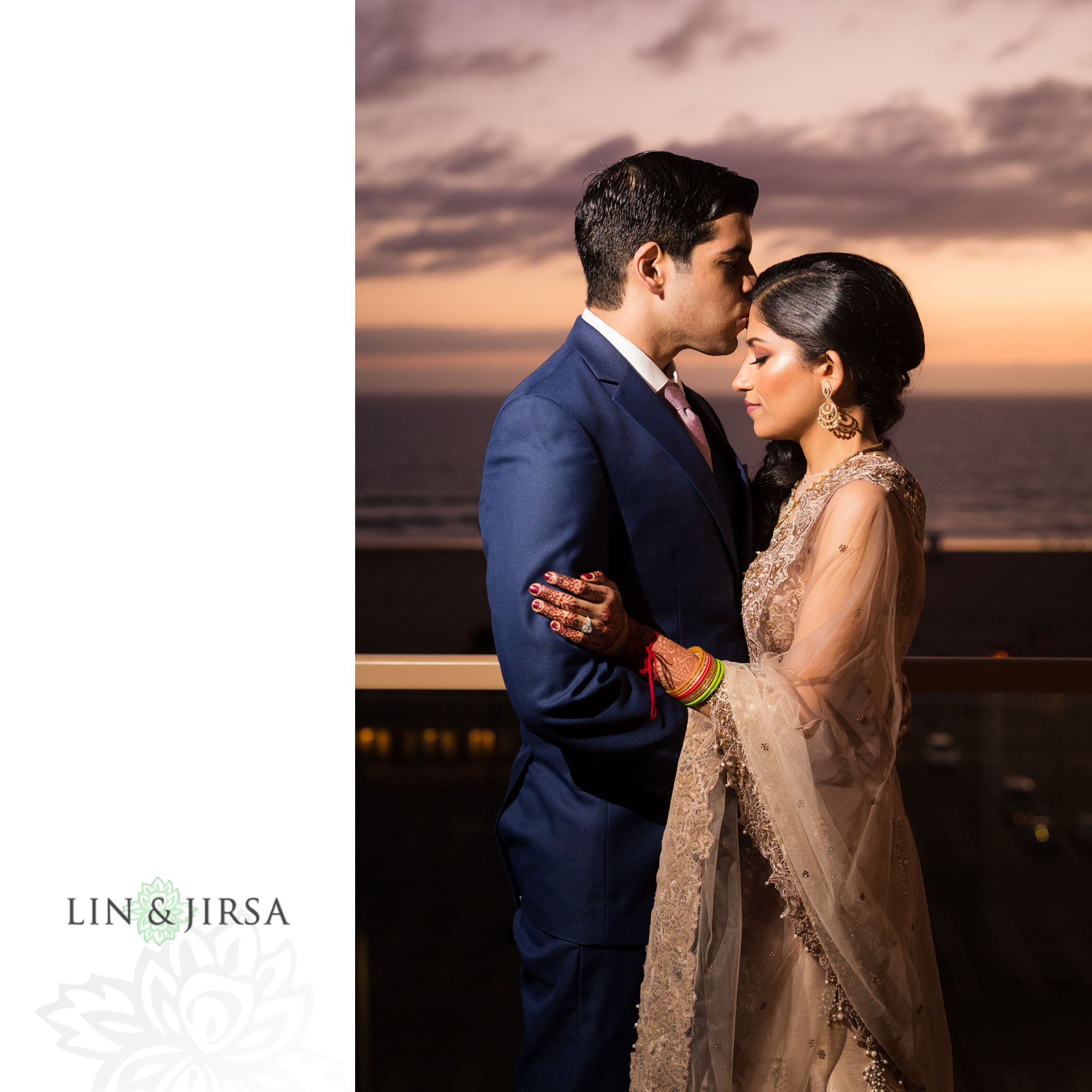 44 hilton waterfront huntington beach indian wedding sunset photography