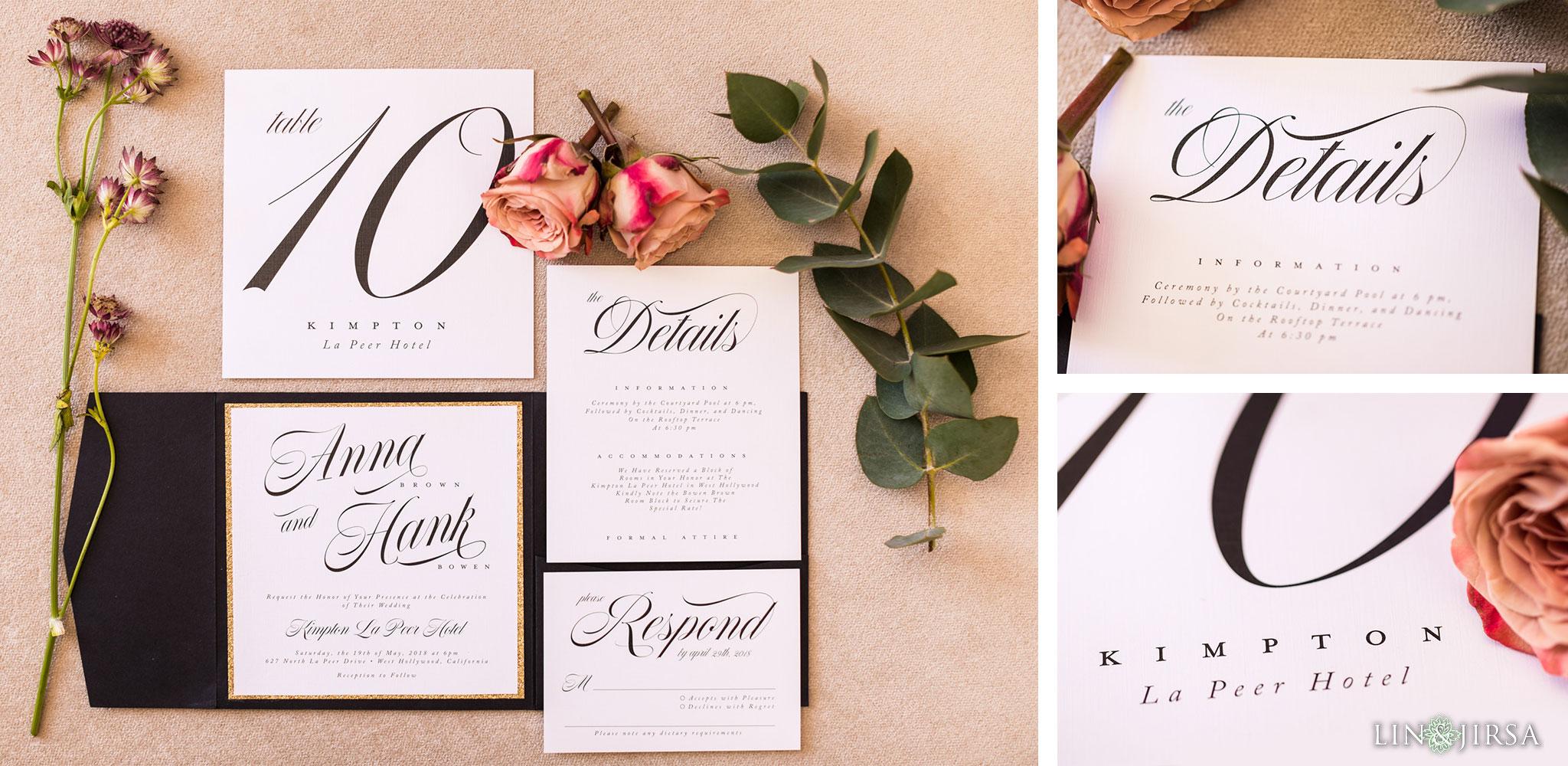 02 Kimpton La Peer Hotel West Hollywood Stylized Wedding Photography